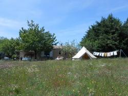 Tente saharienne depuis pré